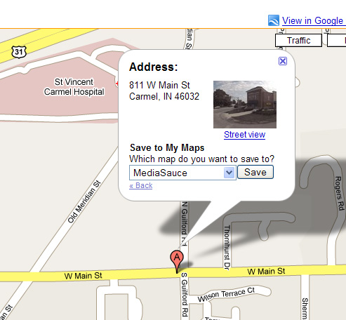 Google Map for MediaSauce