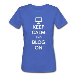 Keep Calm and Blog On T-shirt via spreadshiet