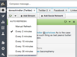 Refresh manually or time your auto refresh