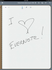 I love Evernote