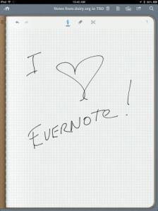 I love Evernote