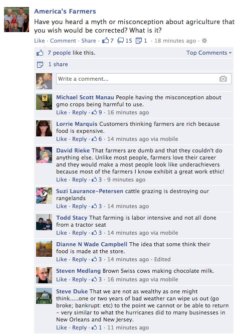 What should you be posting on Facebook Farm Page? Top ten tips on
