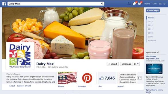 Dairy MAX Facebook Page