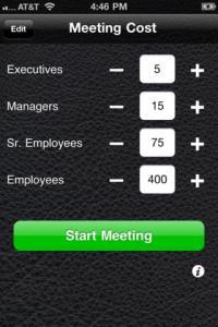 Meeting Cost Calculator